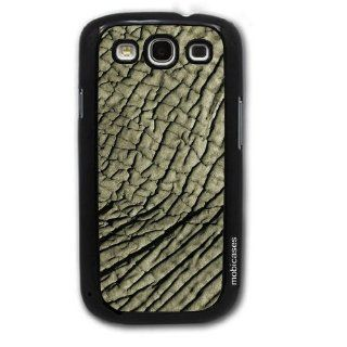 Elephant Skin   Protective Designer BLACK Case   Fits Samsung Galaxy S3 SIII i9300 Cell Phones & Accessories