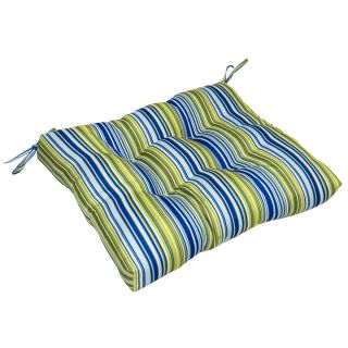 Greendale Home Fashions Indoor Dining Chair Cushion   23 x 20 in.   Vivid Stripe   Dining Chair Cushions