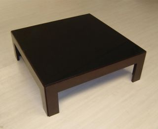 Narciss Coffee Table with Black Glass Top   Coffee Tables