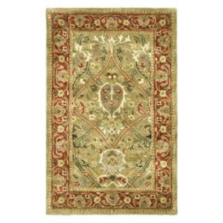 Safavieh Persian Legend PL819B Area Rug   Light Green/Rust   Area Rugs