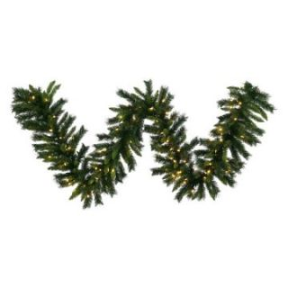 Vickerman Imperial Pine Pre Lit LED Garland   Warm White Italian Lights   Christmas Garland