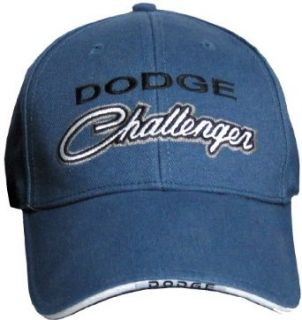 Dodge CHALLENGER Classic Car Fine Embroidered Hat Cap, Blue Clothing