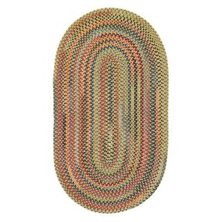 Capel Rugs High Rock Braided Rug   Gold   Braided Rugs
