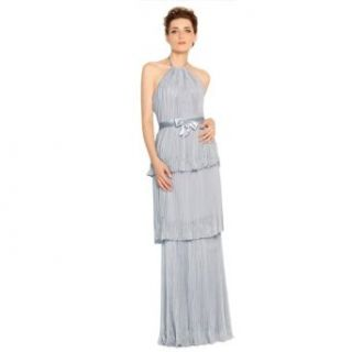 JSSHAN Women's Sleeveless Chiffon Empire Halter Pleats Wedding Prom Dress