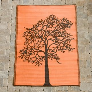 Koko Company Trees Indoor/Outdoor Area Rug   Orange/Brown   Area Rugs