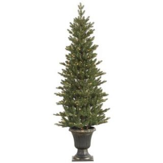 Vickerman 5 ft. Potted Slim Mini Noble Pre Lit Christmas Tree   Christmas Trees