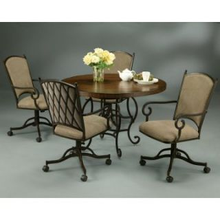 Pastel Althea 5 pc. Wood Top Dining Table Set with Caster Chairs   Dining Table Sets