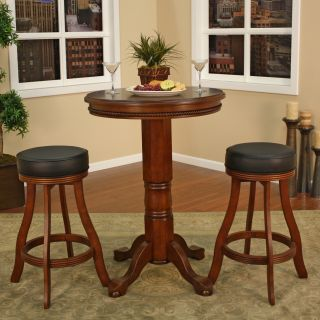 AHB LaRosa 3 pc. Pub Table Set with Dunlap Backless Stools   Pub Tables
