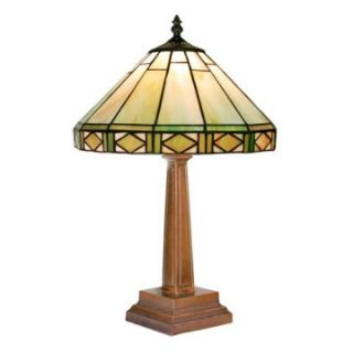 Tiffany Style Round Mission Table Lamp   Table Lamps