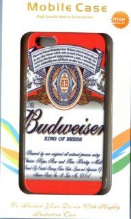 Beverage USA BEER Budweiser Log for iPhone 5 / 5S Plastic Hard Case White Cell Phones & Accessories