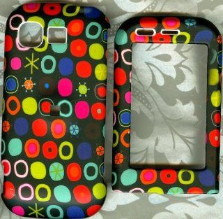 Black snow dot rubberized LG 840 spyder II spyder 2 hard case phone cover Cell Phones & Accessories