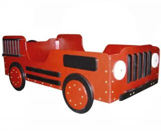 Fire Truck Toddler Bed   Themed Toddler Beds