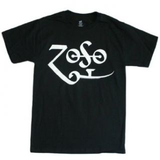 Jimmy Page   White Zoso Logo T Shirt Size XL Music Fan T Shirts Clothing