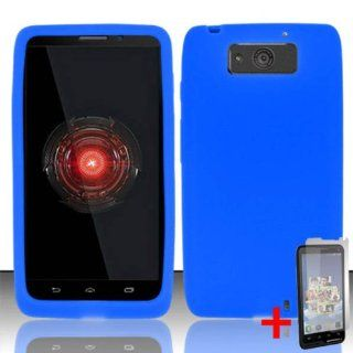 MOTOROLA DROID ULTRA XT1080 BLUE SILICONE RUBBER SKIN COVER SOFT GEL CASE + FREE SCREEN PROTECTOR from [ACCESSORY ARENA] Cell Phones & Accessories