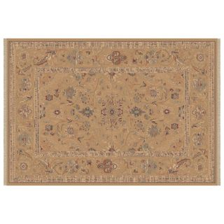 Dynamic Rugs Ancient Garden Collection Rectangle Hearth Rug Champagne Floral   Hearth Rugs