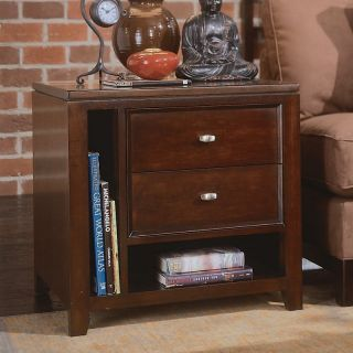 American Drew Tribecca Rectangular End Table with 2 Drawers   End Tables