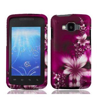 Samsung Rugby Smart i847 i 847 Rose Red Floral Flowers Design Snap On Hard Protective Cover Case Cell Phone Cell Phones & Accessories