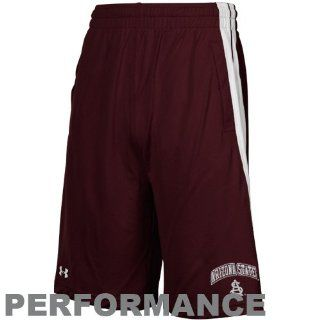 Under Armour Arizona State Sun Devils Maroon Twister HeatGear Performance Shorts  Sports Fan Shorts  Sports & Outdoors