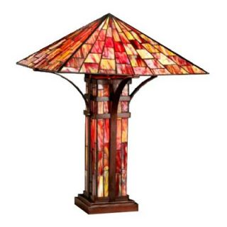 Tiffany Style Mission Double Lite Table Lamp   Table Lamps