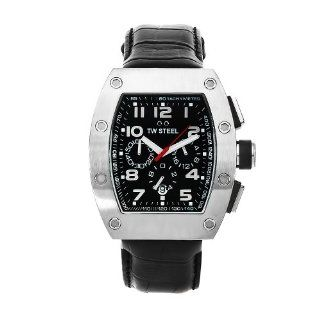 TW Steel Men's CE2001 CEO Tonneau Black Leather Chronograph Dial Watch at  Men's Watch store.
