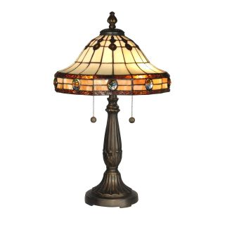 Dale Tiffany Jeweled Mission Table Lamp   Table Lamps