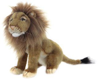 Hansa Male (Norfolk) Lion Stuffed Plush Animal, Sitting Toys & Games