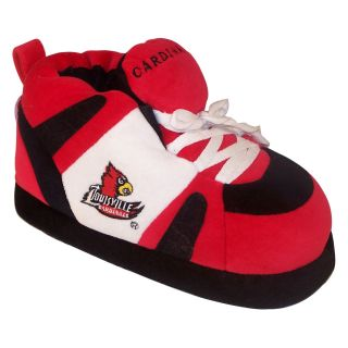 Comfy Feet NCAA Sneaker Boot Slippers   Louisville Cardinals   Mens Slippers