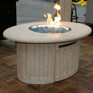 Outdoor GreatRoom Tuscan Gas Fire Pit Table   Fire Pits