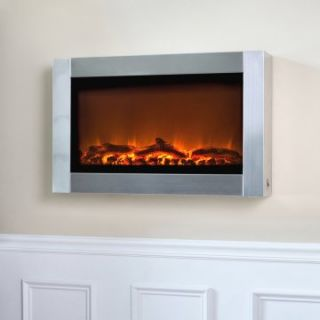Fire Sense Stainless Steel Wall Mounted Electric Fireplace   Electric Fireplaces