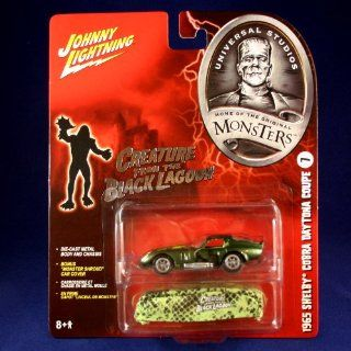 "1965 SHELBY COBRA DAYTONA COUPE #7 * THE CREATURE FROM THE BLACK LAGOON * Johnny Lightning 2005 UNIVERSAL STUDIOS MONSTERS 164 Scale SERIES 2 Die Cast Vehicle & ""Monster Shroud"" Car Cover Toys & Games"