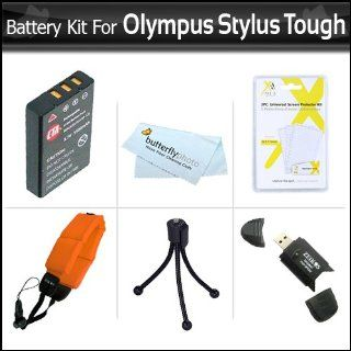 Battery Kit For Olympus Stylus Tough 8010 6020 TG 610 TG 810 TG 820 iHS TG 830 iHS, TG 630 iHS, TG 850 iHS Digital Camera Includes Extended (1000maH) Replacement LI 50B Battery + STRAP FLOAT + LCD Screen Protectors + Mini Tripod + USB Card Reader + More