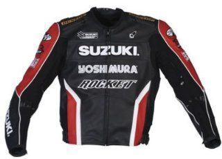 Joe Rocket Mens Suzuki Replica Superbike Leather Motorcycle Jacket Black/Red/White 44 Automotive