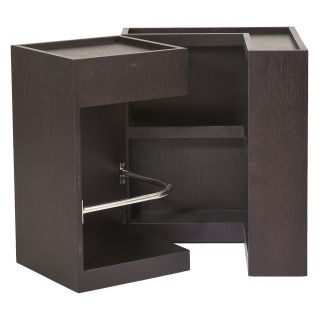 Euro Style Sanjay Side Table with Storage   Wenge   End Tables