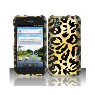 Yellow Cheetah Hard Cover Case for LG Ignite 855 Marquee LS855 Sprint LG855 Boost L85C NET10 Straight Talk Optimus Black P970 L85C Majestic US855 US Cellular Cell Phones & Accessories