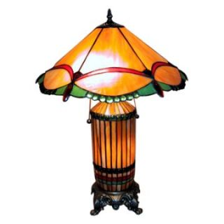 Tiffany Style Unique Mission Lamp with Light Up Base   Table Lamps