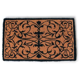 Iron Grate Hand Woven Extra Thick Coir Doormat   Outdoor Doormats