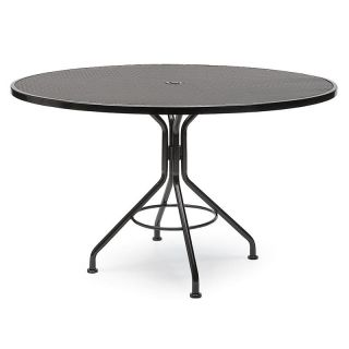 Woodard Commercial Grade Wrought Iron Patio Dining Table   Patio Tables