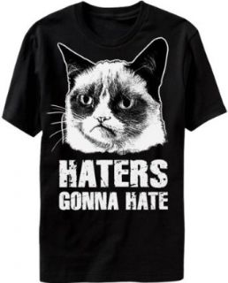 Grumpy Cat Haters Gonna Hate Mens Black T Shirt Novelty T Shirts Clothing