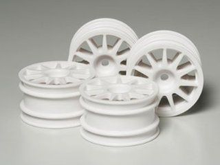 Tamiya Suzuki Swift/M Chassis Wheels White (4) Toys & Games