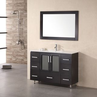 Design Element Stanton 48 in. Single Bathroom Vanity Set with Drop in Sink   Single Sink Bathroom Vanities