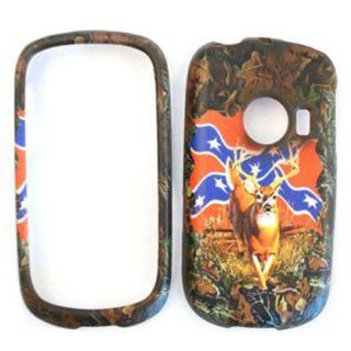 Huawei M835 Camo / Camouflage Hunter Series, Deer on Rebel Flag Hard Case/Cover/Faceplate/Snap On/Housing/Protector Cell Phones & Accessories
