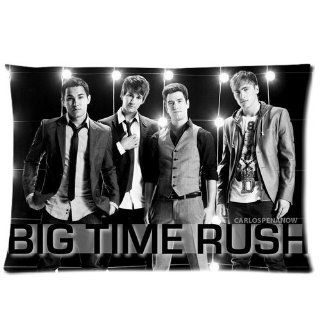 New Diy Design Big Time Rush Band Rectangle One Pillow Case 20x30 (one side) Comfortable For Lovers And Friends   Pillowcase