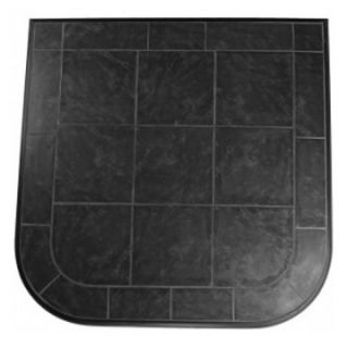 HearthSafe Aluminum Frame Standard Hearth Pad   Fireplace Accessories