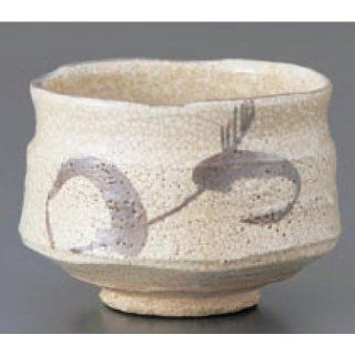 teacup kbu842 07 082 [4.53 x 3.35 inch] Japanese tabletop kitchen dish Matcha bowl Shino cup ( spring grass work ) [11.5 x 8.5cm] cafe restaurant tableware restaurant business kbu842 07 082   Teacups