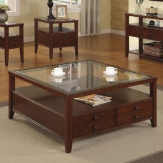 Riverside Avenue Square Coffee Table Set   Coffee Table Sets