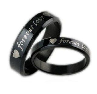 "OPK Jewelry Cool Stainless Steel Finger Ring Bands Couple Rings ""Forever Love"" Engagement Ring,Men OPK Jewelry"