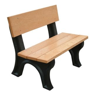Landmark 4 ft. Commercial Grade Armless Park Bench   Outdoor Benches