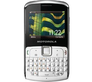 Motorola EX112 with Full QWERTY Keyboard, 3.15 MP Camera, Quadband GSM and 3G 850/1900/2100   Unlocked Phone   US Warranty   White Cell Phones & Accessories