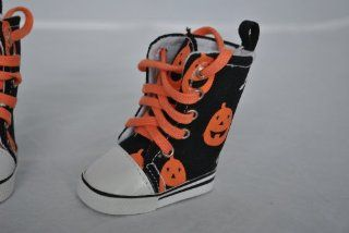 Pumpkin & Ghost Halloween High Top Tennis Shoes for American Girl Dolls and Most 18 Inch Dolls Toys & Games