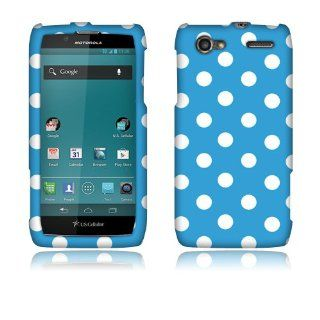 Motorola Electrify 2 Xt881 Blue/white Dots Cover Cell Phones & Accessories